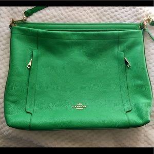 Kelly Green Coach Handbag w/ Adjustable Strap